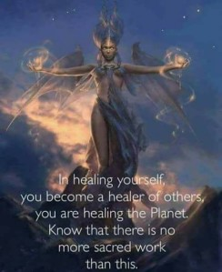 Healing yourself you start to heal others around you