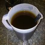 hot steeped herb tea in a 2 quart pitcher_top view