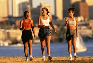 women exercising outside
